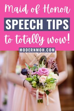 The planning and delivery of the maid of honor speech is the most sacred duty of them all. We feel this is your true time to shine and greatest opportunity to show your bestie just how much her happiness means to you. From the basics of writing your speech to the dos and don'ts of delivery, we have all the tips and tricks you need to know to bring the house down. #maidofhonorspeechtips #maidofhonorspeech #howtowriteamaidofhonorspeech #ModernMOH Free Wedding, Wedding Day, Bachelorette Party Activities, Happiness Meaning, Maid Of Honor Speech, Bridal Shower, Bridesmaid, Writing, Tips
