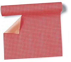 Site allemand :  Airlaid Tischläufer Vichy red - Rot kariert 360 x 40cm gerollt 4,99€  20 serv 33x33 2,19€  20 serv 25x25 1,79€  Table box x40 serv 33x33 5,49€  bougie vichy 5,95€  papier wc amour 3,60€