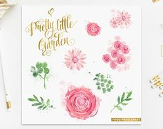 watercolor floral clipart on Etsy, a global handmade and vintage marketplace.