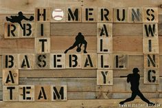 Baseball enthusiast pallet art word collage sports room wall decor choose lustre fine art print or Baseball Crafts, Baseball Boys, Boys Baseball Bedroom, Baseball Room Decor, Baseball Stuff, Baseball Man Caves, Softball Bedroom, Baseball Canvas, Baseball Couples