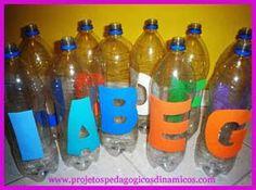 Boliche do Alfabeto com Pet.