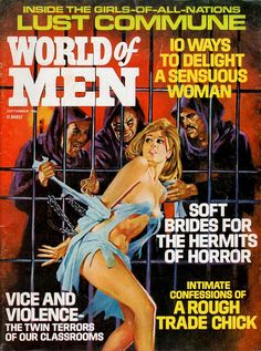 pulp cover girl woman dame captive prisoner hostage cell cage bars purple robe priest foreign exotic dungeon danger