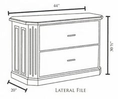 2 Drawer Lateral File Cabinet Height