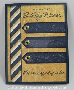 masculine card by Joanie using CTMH Tommy paper.... (change sentiment)
