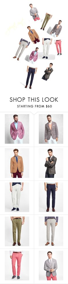 """Sports Coat..**"" by yagna ❤ liked on Polyvore featuring Brooks Brothers, men's fashion and menswear"