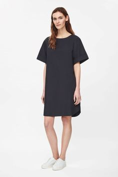 Pleated back dress