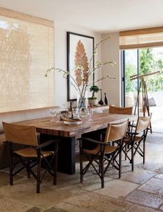 Contemporary Dining Room by Hallberg-Wiseley Designers in Malibu, California