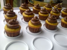 Chocolate Chip Pumpkin Cupcakes with Chocolate Buttercream Frosting