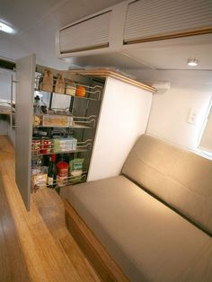 How do you fit an entire houseful of furniture and possessions like beds, books, desks and all the clutter of daily life into a tiny space? With brilliant