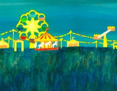 "Check out new work on my @Behance portfolio: ""Amusement Park at Night""…"