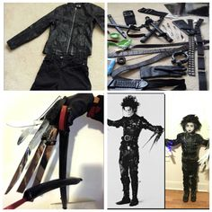 The making of my sons Edward Scissor Hands costume