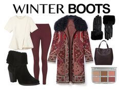 """""""Winter Boots"""" by teennetwork ❤ liked on Polyvore featuring Tory Burch, Topshop, Alexander Wang, UGG Australia, Ted Baker and Karen Millen"""