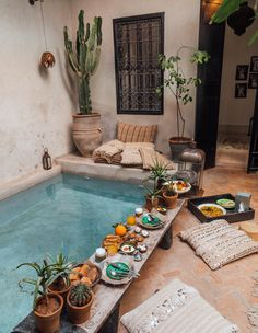 La Maison Marrakech – Tara Milk Tea - Rebel Without Applause Style At Home, Kleiner Pool Design, Piscina Interior, Small Pool Design, Sweet Home, Small Backyard Pools, Pool Designs, Home Fashion, My Dream Home
