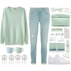 A fashion look from January 2015 featuring Acne Studios sweaters, Frame Denim jeans and NIKE sneakers. Browse and shop related looks.