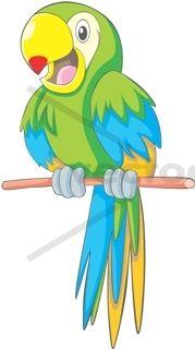 Cute Talking Parrot - Bird - Animals - Buy Clip Art | Buy Illustrations Vector | Royalty Free