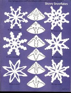 Love paper snowflakes but need some ideas to get started? Check out my earlier posts on 6 point snowflakes. Here are a few more template to help you design your own pattern (Diy Paper Snowflakes) Kids Crafts, Christmas Crafts For Kids, Christmas Projects, Christmas Fun, Holiday Crafts, Diy And Crafts, Christmas Decorations, Origami Christmas, Paper Snowflake Template