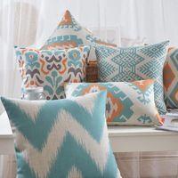 Géométrique oreiller Nordique frais abstraction coussin coussins en Lin taille coussins décoratifs pour la maison canapé coussins