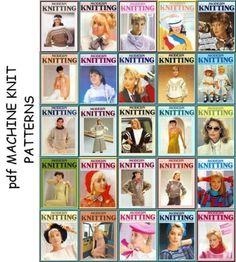 36 Modern Fashion Machine Knitting Pattern Books on CD Knitting Machine Patterns, Knit Fashion, Pattern Books, Modern Fashion, Pattern Fashion, Images, Ebay, Fiber, Garden