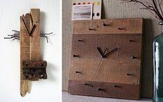Decoración de paredes con relojes de Pallets
