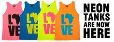 neon tanks by Krochet Kids....love love love