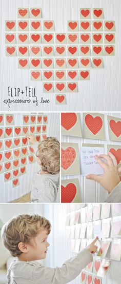 Pink Pistachio: flip & tell expressions of love for the little ones at valentine's