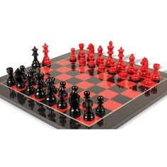 Black And Red Lacquer Clic Set Chess Tables Table Knight