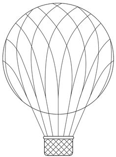 Patterns Kid Hot Air Balloon Basket Template The Best Letter Sample Pattern
