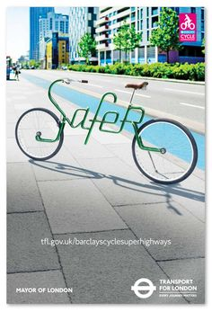 Transport for London Bicycle Lettering Campaign