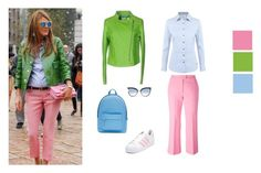 """""""Greenery and pink"""" by olga-kim-b ❤ liked on Polyvore featuring MSGM, DUBARRY, adidas, Karl Lagerfeld and PB 0110"""