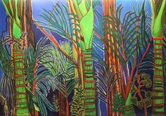 A biography and brief visual catalogue for New Zealand visual artist, painter, printmaker, and film director, Claudia Pond Eyley Plant Painting, Artist Painting, New Zealand Art, Maori Art, Pattern Art, Art Patterns, Printmaking, Water Lilies, Pond