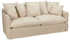 Style Line - Pillow Seat - Sofa - Jordan's Furniture  Sofa  It's all right here--a comfortable, fashionable seating collection that will appeal to everyone! Crafted in the USA, the featured fabric is a cool linen blend, but there are lots of alternate choices available for custom order.  Underprice $999.00