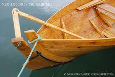 Nordfjordbåter - Nordfjord boats from western Norway - Vikingskip og norske trebåter