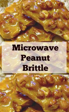 Microwave Peanut Bri Microwave Peanut Brittle. A super easy and fuss free recipe. Perfect for the holidays and great for making ahead. Give as gifts or have all to yourself! | Lovefoodies.com Recipe : ift.tt/1hGiZgA And My Pinteresting Life | Recipes, Desserts, DIY, Healthy snacks, Cooking tips, Clean eating, ,home dec  ift.tt/2v8iUYW