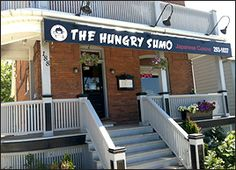 The Hungry Sumo - on First Street in Collingwood - Excellent Sushi ! Blue Mountain, Places To Eat, Sushi, Restaurants, Street, Outdoor Decor, Home Decor, Diners, Homemade Home Decor