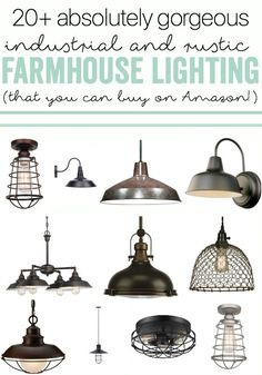 GORGEOUS Industrial Farmhouse Lighting (that you can buy on Amazon!). [ad] #farmhouse