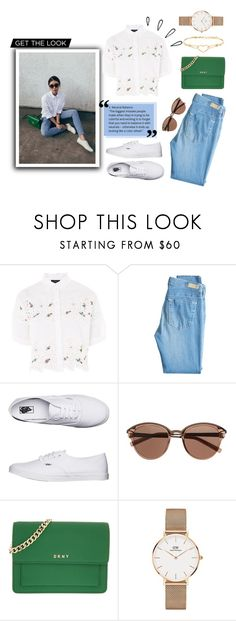 """Untitled #62"" by unicorntips ❤ liked on Polyvore featuring Topshop, AG Adriano Goldschmied, Vans, Old Navy, Witchery, DKNY, Daniel Wellington and Diesel"