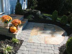 Simple foundation plantings