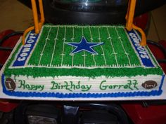 Dallas Cowboy Football Field - This cake was for my nephew on his 11th birthday.