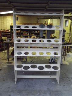 Custom storage rack for flower containers Flower Truck, Flower Bar, Flower Room, Flower Shop Design, Design Floral, Flower Shop Decor, Flower Shop Interiors, Craft Room Storage, Bathroom Storage