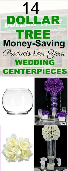 14 Dollar Tree Money-Saving Products For Your Wedding Centerpieces!