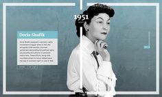 Interactive One Pager exploring the incredible achievements woman have made throughout history. The Single Page website features quality rich imagery and browsing is done within a long scrolling timeline.