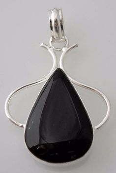 Fascinating Black Onyx Sterling Silver Plated Pendant Gifts For Everyone F101 #valueforbucks #Pendant