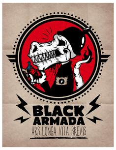 The Rise Of Black Armada | illustration by Johnny Terror, via Behance