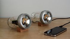 DIY Mason Jar Speakers