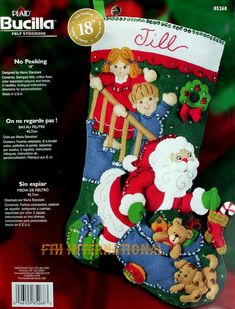 Bucilla felt applique stockings are a Christmas tradition. Description from fthinternational.com. I searched for this on bing.com/images