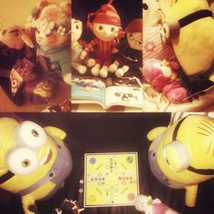 When I came back home from my work, I noticed, that the minions clan had a lot of fun being alone. Wearing my socks, reading a magazine, sleeping in my bed or playing Ludo... Thanks to my girlfriend for this funny welcome. Miss u ❤️ #minions #despicableme2 #despicableme #gru #bob #stuart #kevin #margo #edith #agnes #pictureoftheday #ludo #playing #stupid #crazy