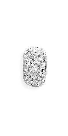 Clear Pave Crystal Bead