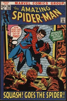 AMAZING SPIDER-MAN #106 GLOSSY VF 8.0 WITH WHITE PAGES. VS SPIDER-SLAYER!