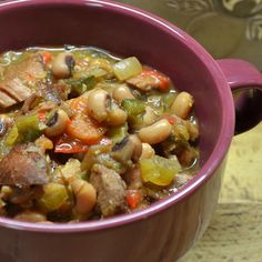 """Slow Cooker Spicy Black-Eyed Peas   """"Terrific ! Had this w/ baby-back ribs w/ company the other night - BIG HIT !! Will make again and share this recipe."""""""