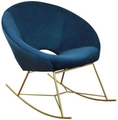TOV Furniture Nolan Navy Velvet Chair